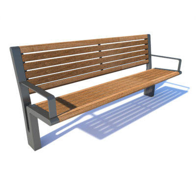 Streetscape bench seat